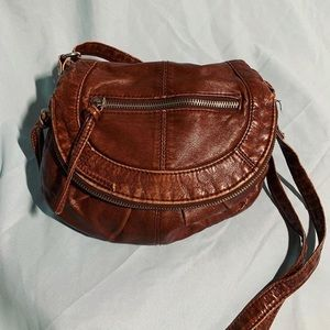 Faux Leather Adjustable Crossbody